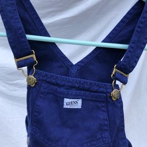 Dark blue baby guess overalls